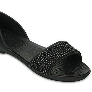 Crocs Lina Embellished D'Orsay Flats Size 8